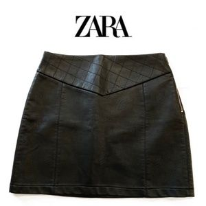 2 for $40 - Zara Leather Skirt with Zipper